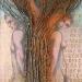 Rajský strom, olej plátno, r. 2002, vel. 100/70 cm