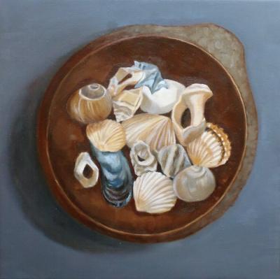 Mušle,50x50 cm, olej na platně 2012