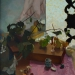 Po čaji III, olej na plátně, 80x65, r.2012